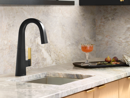 Trendy kitchen faucet.